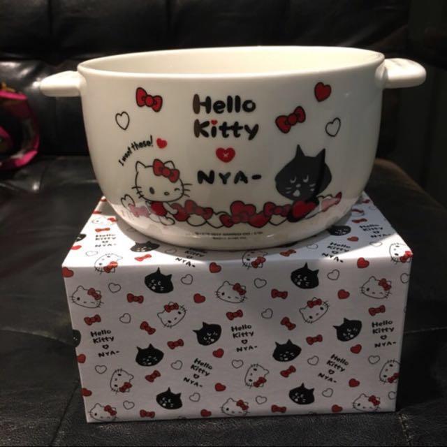 半買半相送 kitty陶瓷碗和美國CONTIGO雙層單車杯650ML