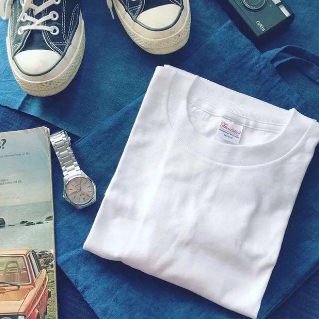 日本潮牌 Printerstar 純棉白色短袖T恤 #手滑買太多
