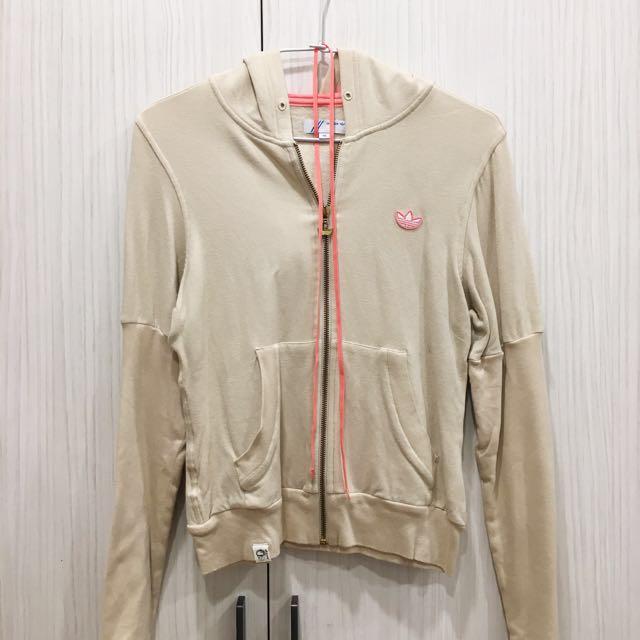 Adidas original 駝色x粉色 休閒外套