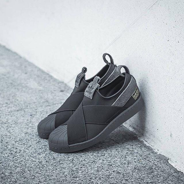 adidas superstar slip on black grey women 39 s fashion shoes on carousell. Black Bedroom Furniture Sets. Home Design Ideas