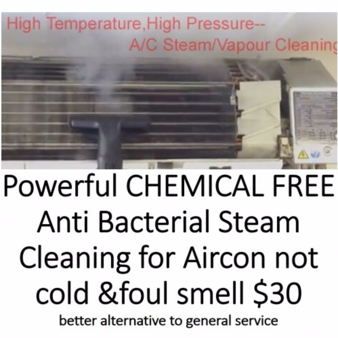 Aircon not cold,FOUL SMELL SERVICE,CHEMICAL FREE DEEP CLEAN