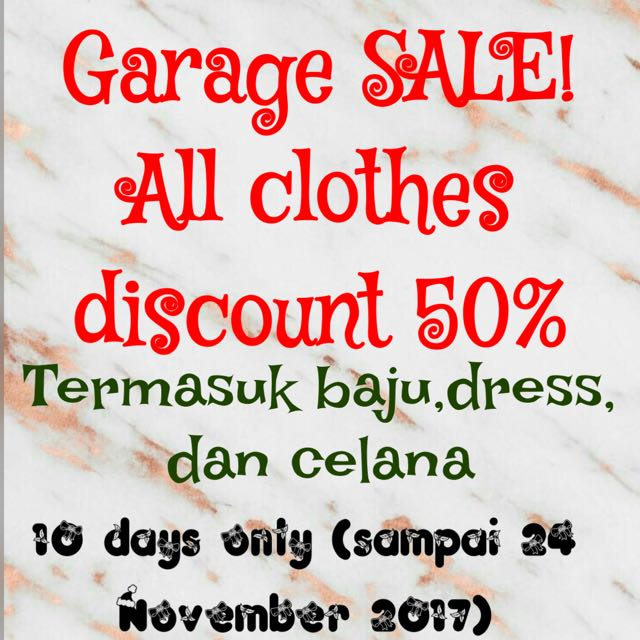 All items discount 50%