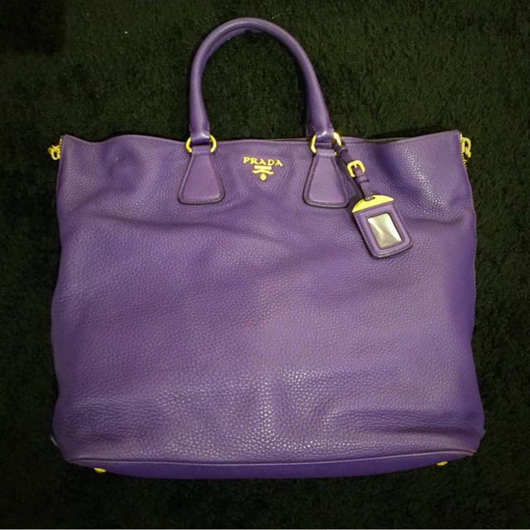 4b82eba5 ALMOST NEW Prada Vitello Daino Violet Leather, Women's ...