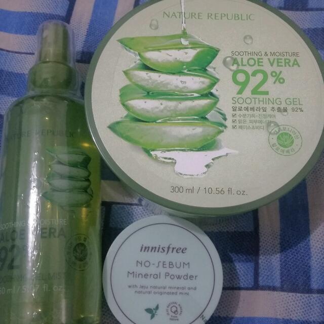 Aloe Vera Soothing Set + Innisfree Powder