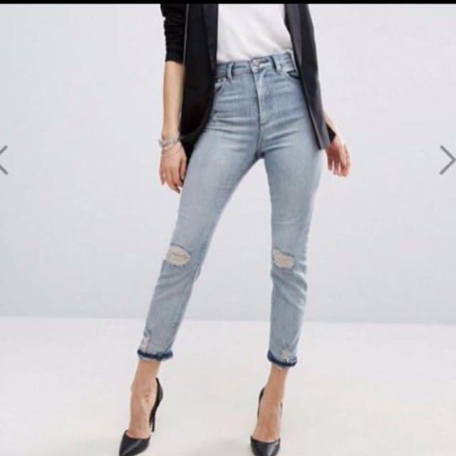 48f7e2207aba ASOS farleigh high waisted slim mom jeans, Women's Fashion, Clothes ...