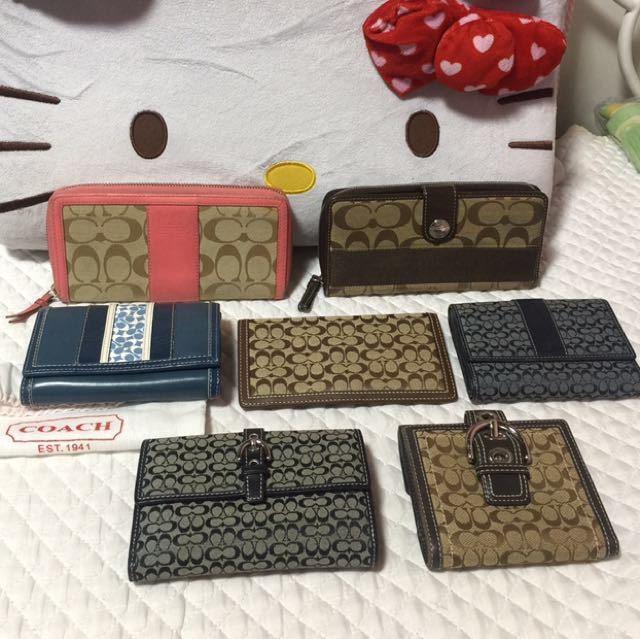 Authentic Coach Wallet Collection