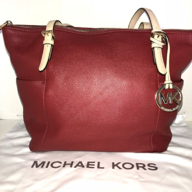 AUTHENTIC/ORIGINAL MICHAEL KORS RED TOTE BAG