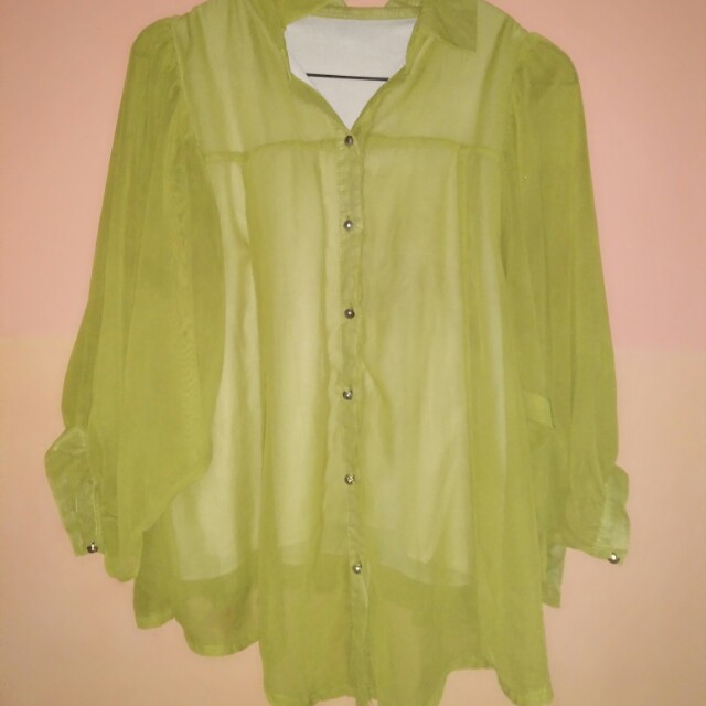 Baju blouse kancing