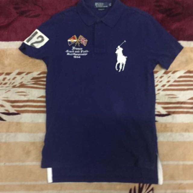1b375556 Baju Polo Ralphlauren 012 ( FRANCE ) Saiz S ( custom fit ) Pit 18' x 28'  Condition 8.5/10, Men's Fashion, Clothes on Carousell