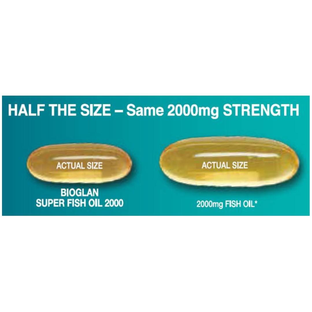 Bioglan Super Fish Oil 2000mg 200 Capsules, Health & Beauty, .