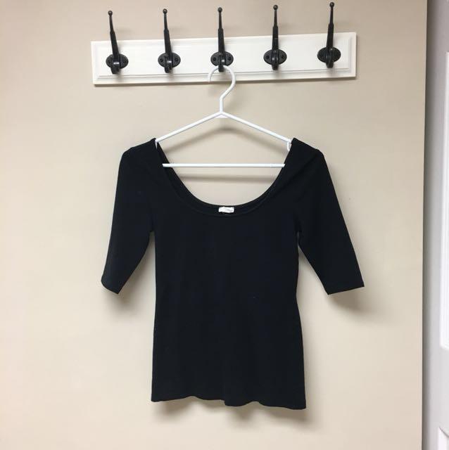 Black ballerina top