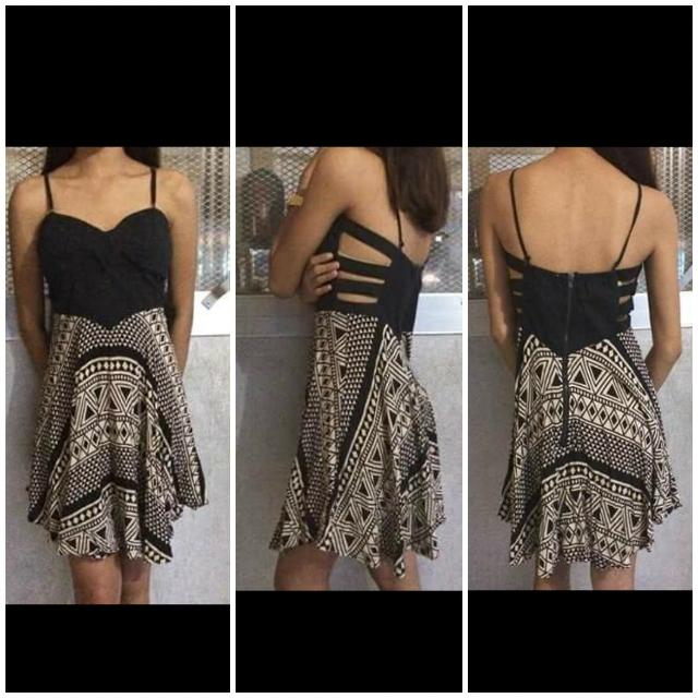 Black Dress With Cute Design