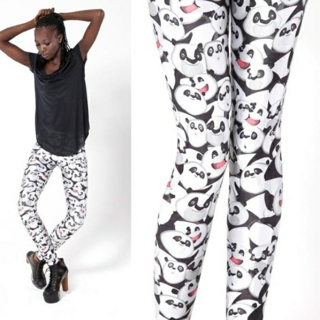Black Milk Clothing Emotional Panda leggings (size S)