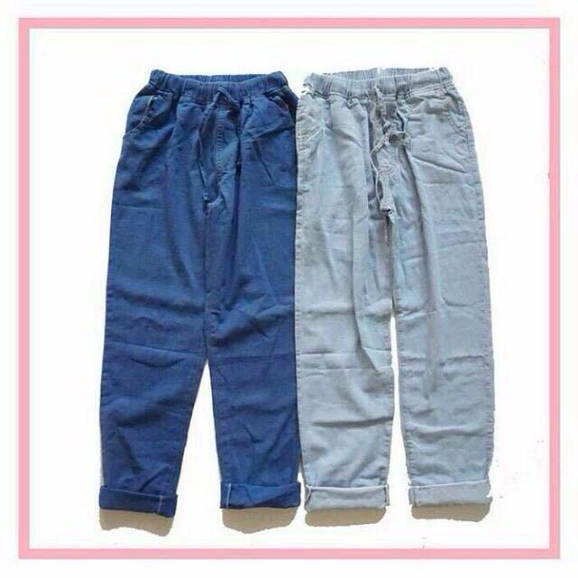 boyfriend jeans warna Dark