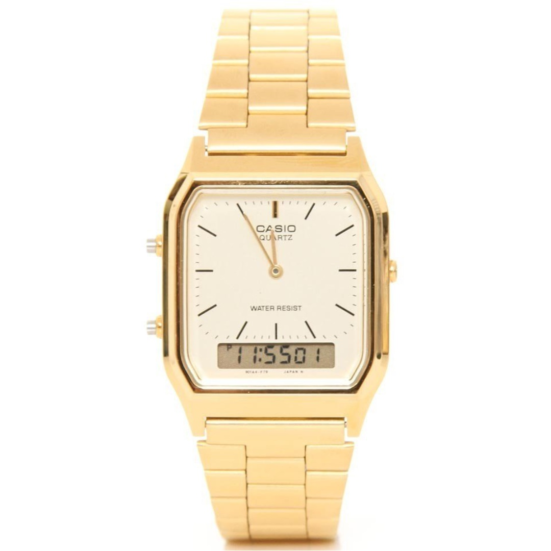aded4637e04a Casio Vintage AQ-230GA-9D Gold Plated Watch for Men and Women - COD ...