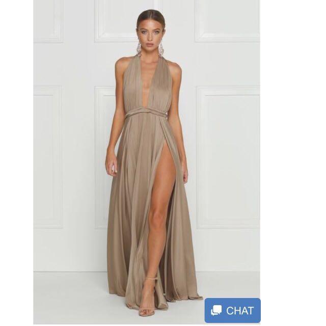 catalina luxe bronze dress