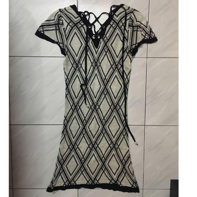Cecil Mcbee criss cross knitted dress