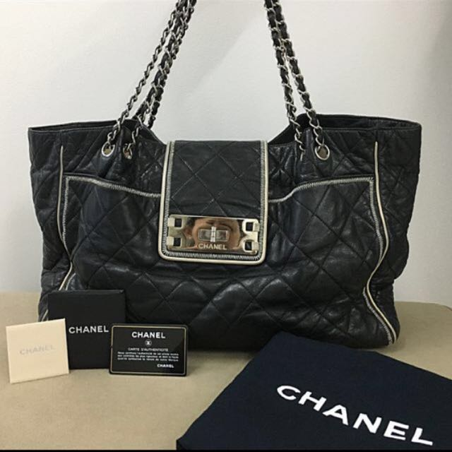 Chanel Black Quilted Leather