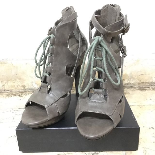 Charles and Keith Lace Up Heels