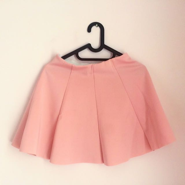 Chic Simple Pink Skirt
