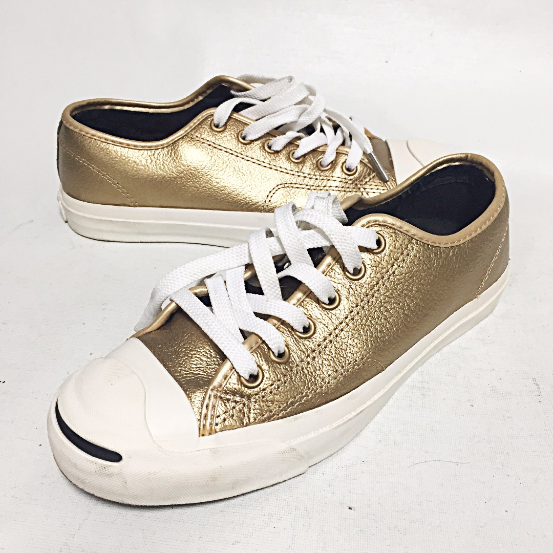 8a6a4703961195 CONVERSE JACK PURCELL Leather OX Unisex Sneakers Dark Gold Women s US 7  Men s US 5.5 EUC on Carousell