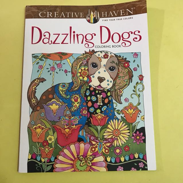 Dazzling Dogs Coloring Book Design Craft Artwork On Carousell