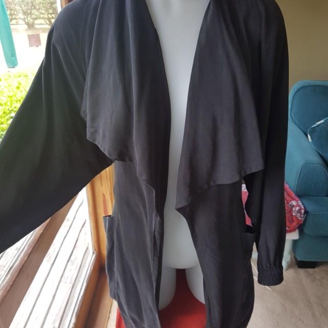 Decjuba kimono sleeve longline coat size 10