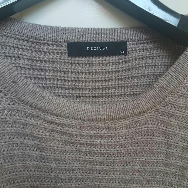 Decjuba M/L beige brown jumper