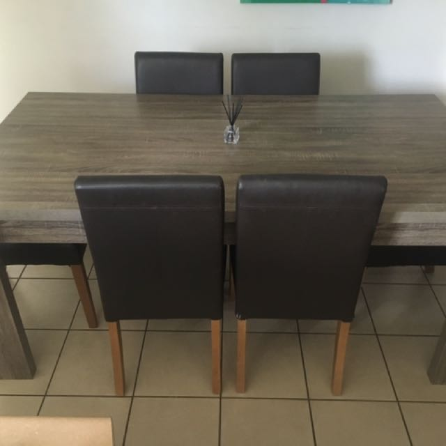 Dining table with computer table and chairs