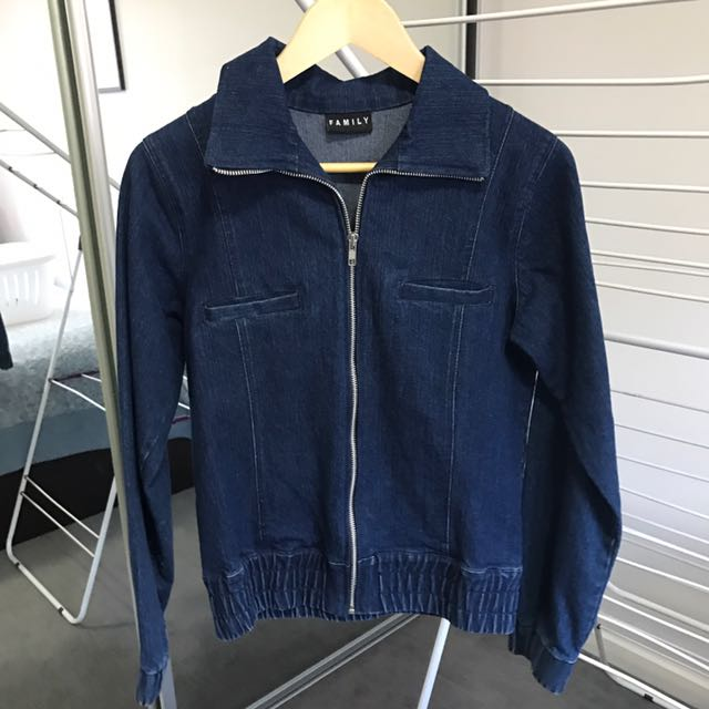 Family denim zip up jacket