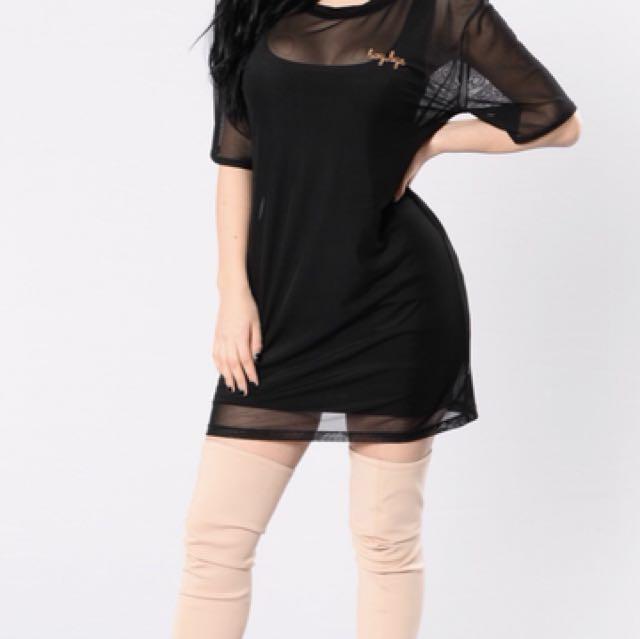 Fashion Nova Mesh Dress