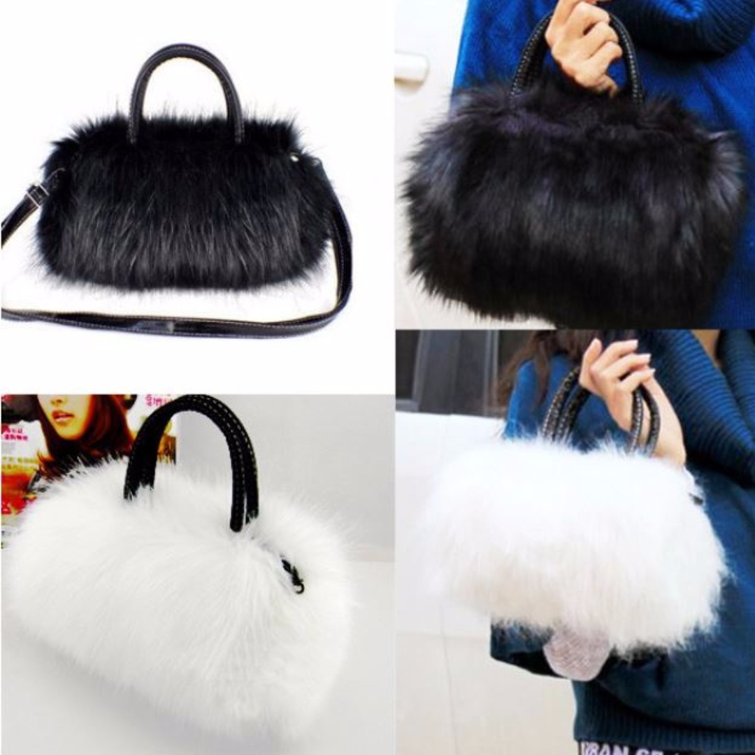 Faux Fur Small Messenger Bag