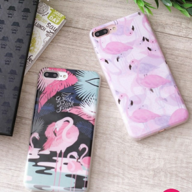 Flamingo case iphone