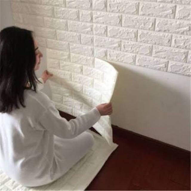 Foam Brick 3D Wallpaper