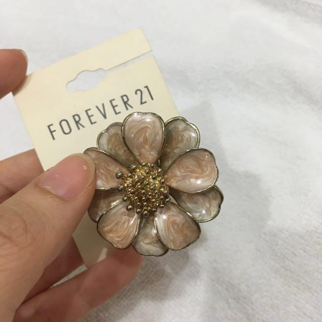 Forever21 - Flower Ring Peach