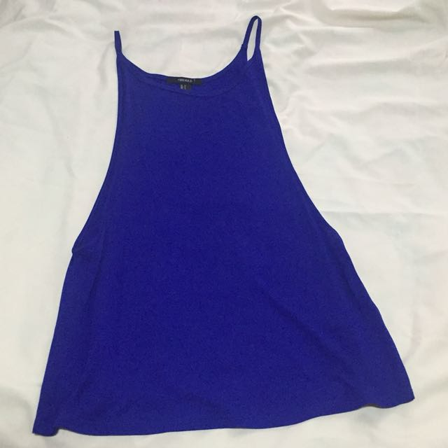 Forever21 Blue Side Boob Top