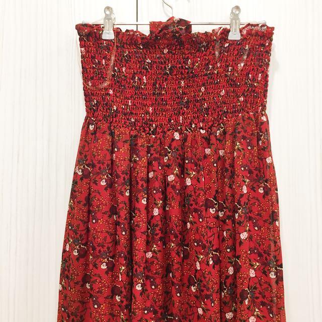 FOREVER 21波希米亞風碎花綁帶度假洋裝