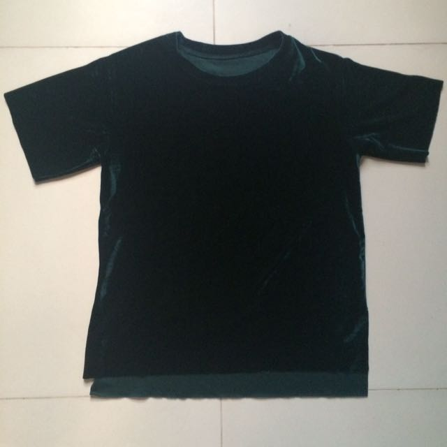 Green Velvet Shirt