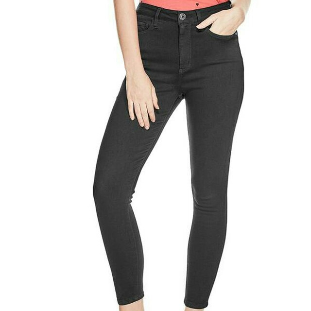 GUESS HIGH-RISE BLACK SKINNY JEANS SIZE 29