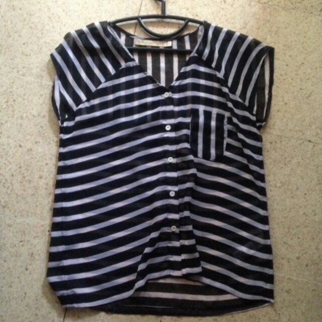 Hardware stripe blouse