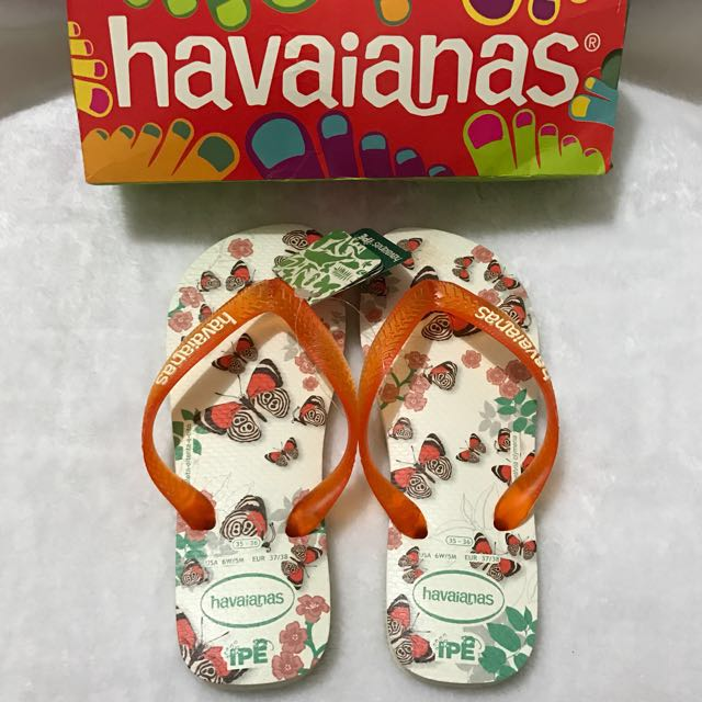 Havaianas IPE White/Salmon Size 35/36