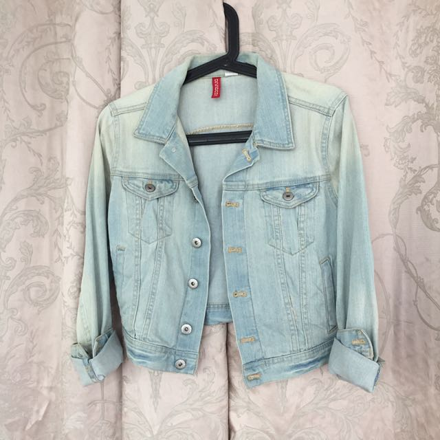 H&M crop denim jacket