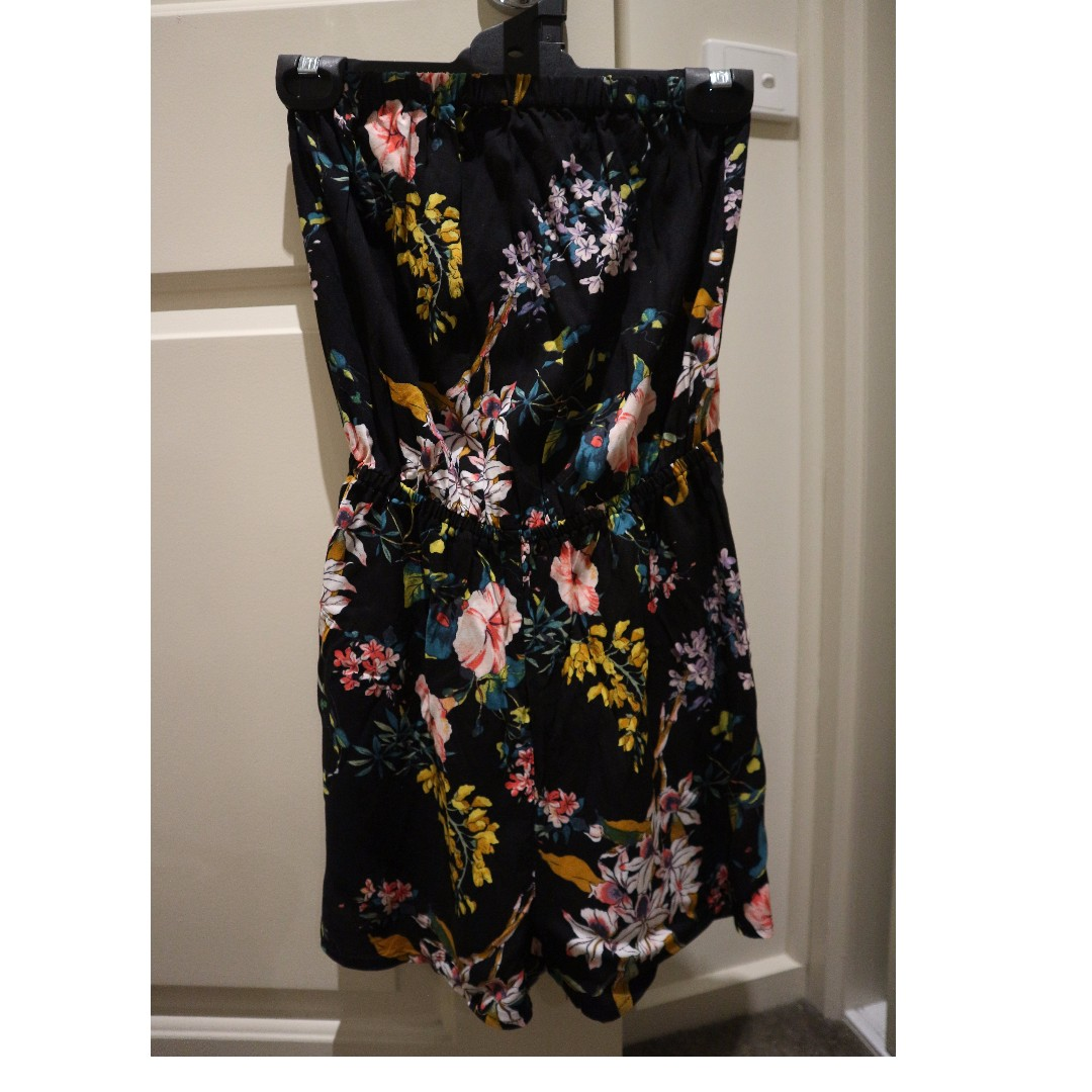H&M Divided - Floral Playsuit