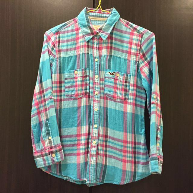 Hollister 藍格 襯衫