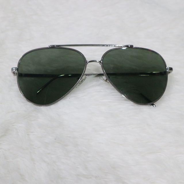 i2i Aviator Inspired Shades (Greenish Black)