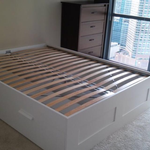 Ikea Brimnes Bed Frame With Storage, Ikea Brimnes Bed Frame With Storage Assembly