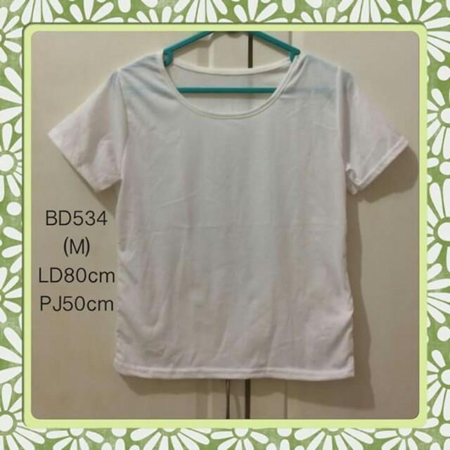 kaos putih BD534