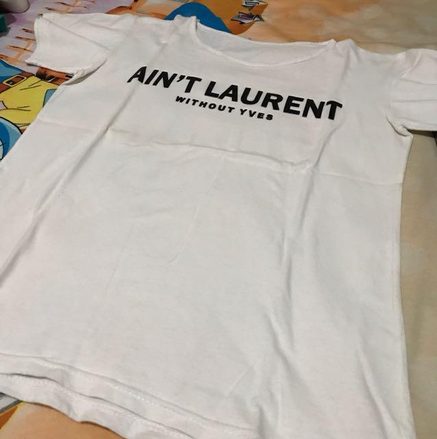 KAOS SABLON White tee t-shirt