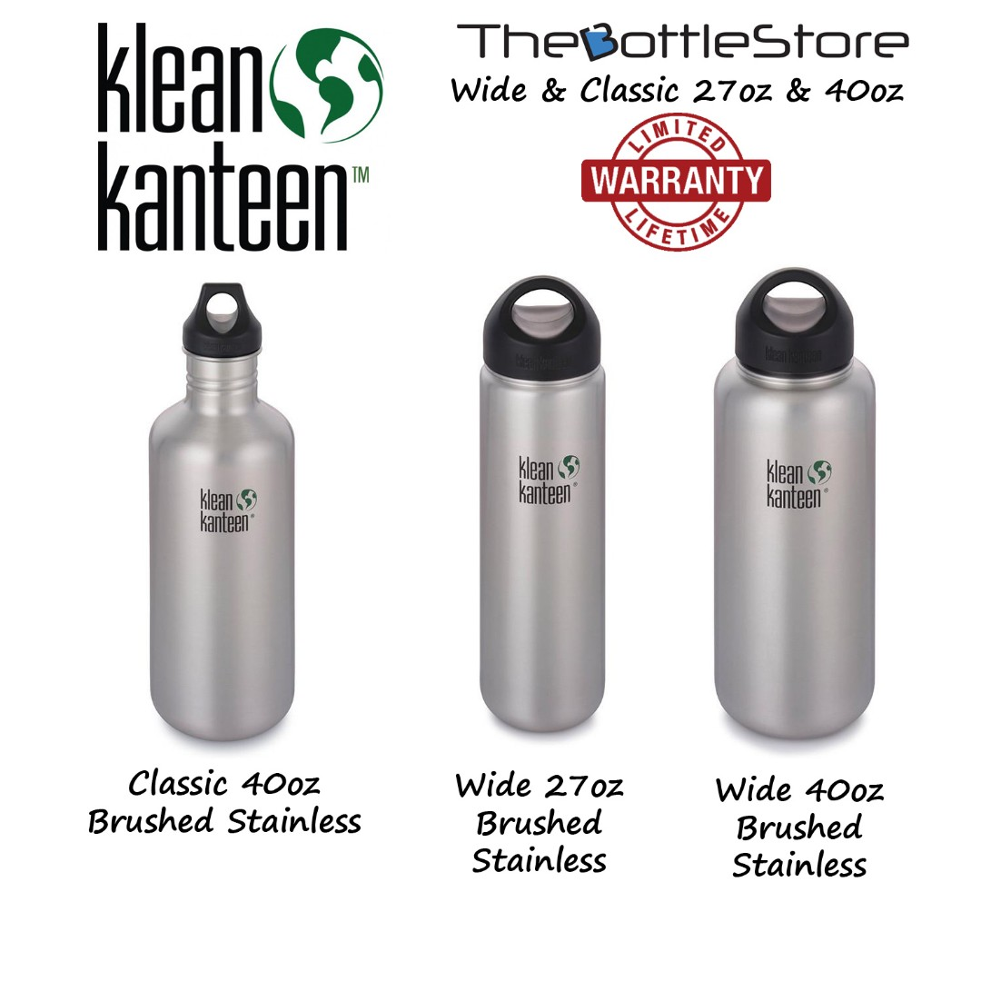 1d0f8bfc64 ⭐Klean Kanteen®⭐ Wide & Classic 27oz & 40oz Stainless Steel ...