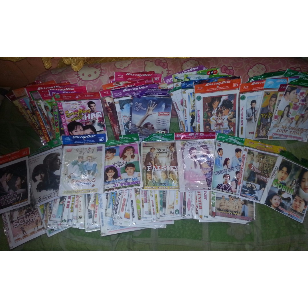 Korean CD's/Taiwan/HollywoodMovie/Anime Series REPRICED!!